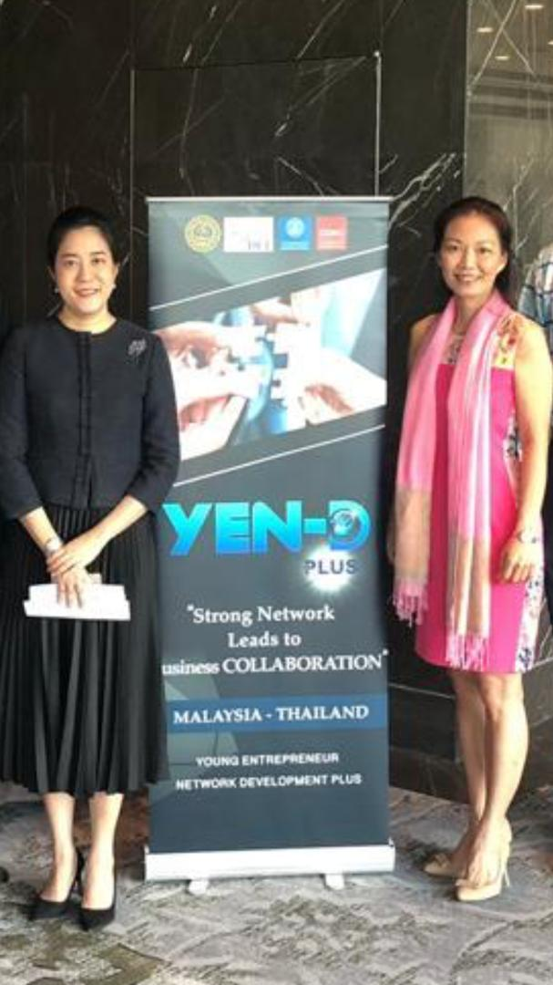 Alycia Lee Mie Sin with Ms Patcha Wutipan, Minister Counsellor